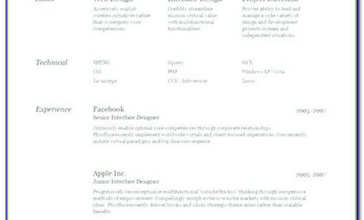 Free Resume Template Indd