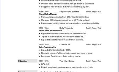 Free Resume Template Mac