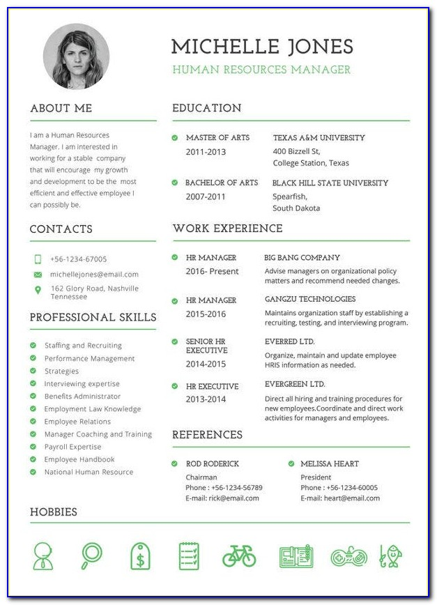 Free Resume Template Macbook