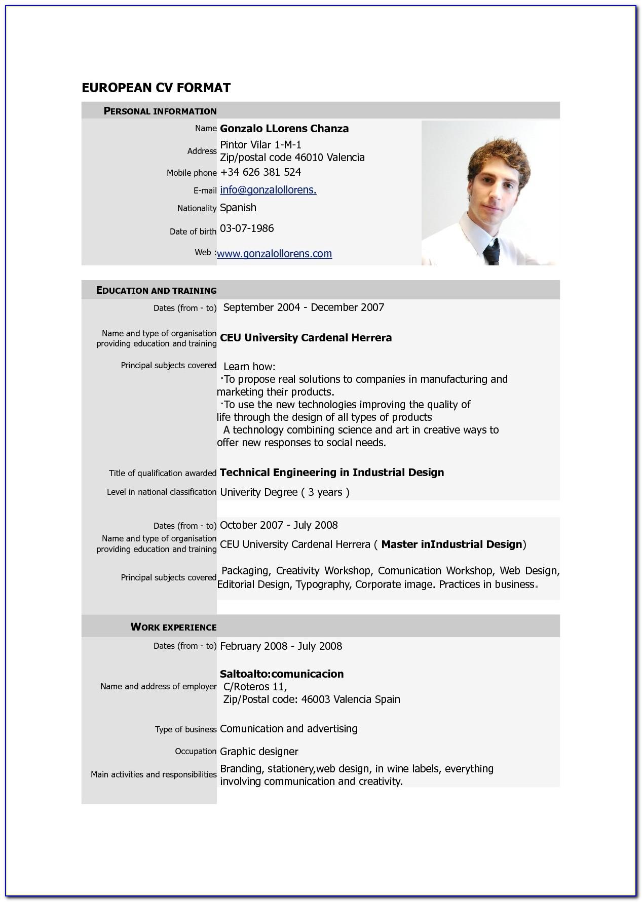 Free Resume Template Microsoft Word 2003