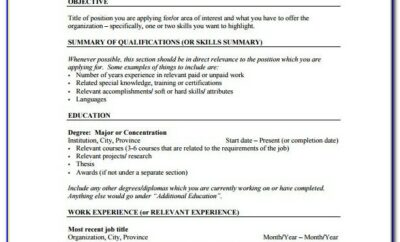 Free Resume Template Pdf Download
