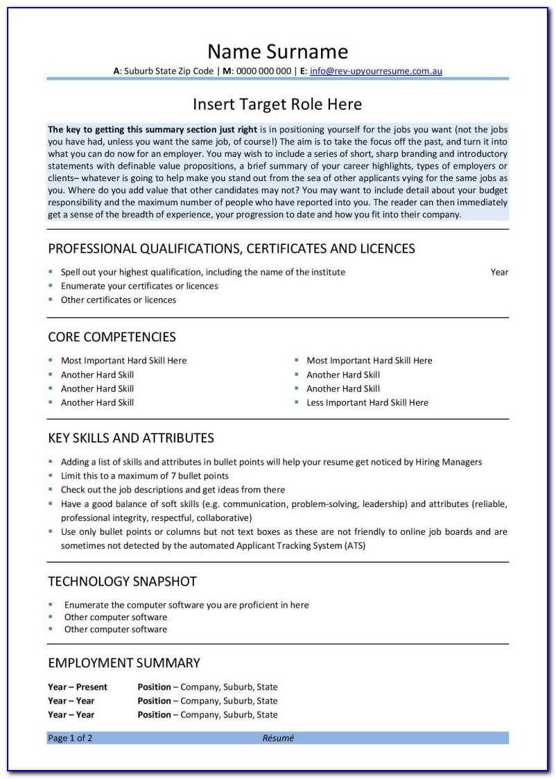 Free Resume Template Word 2003