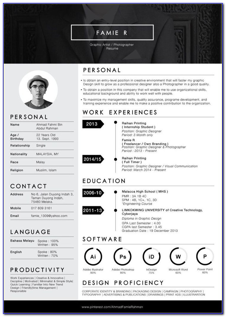 Free Resume Template Word Australia