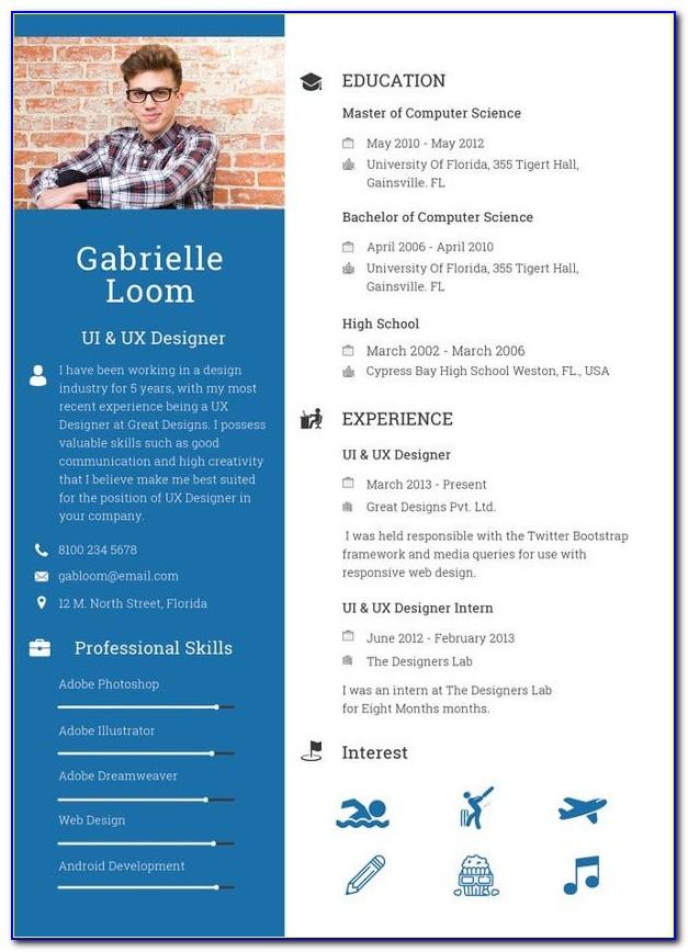 Free Resume Templates Download Pdf