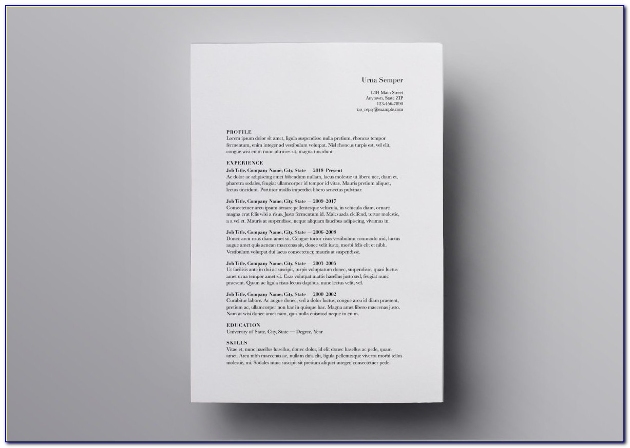 Free Resume Templates For Mac Computers