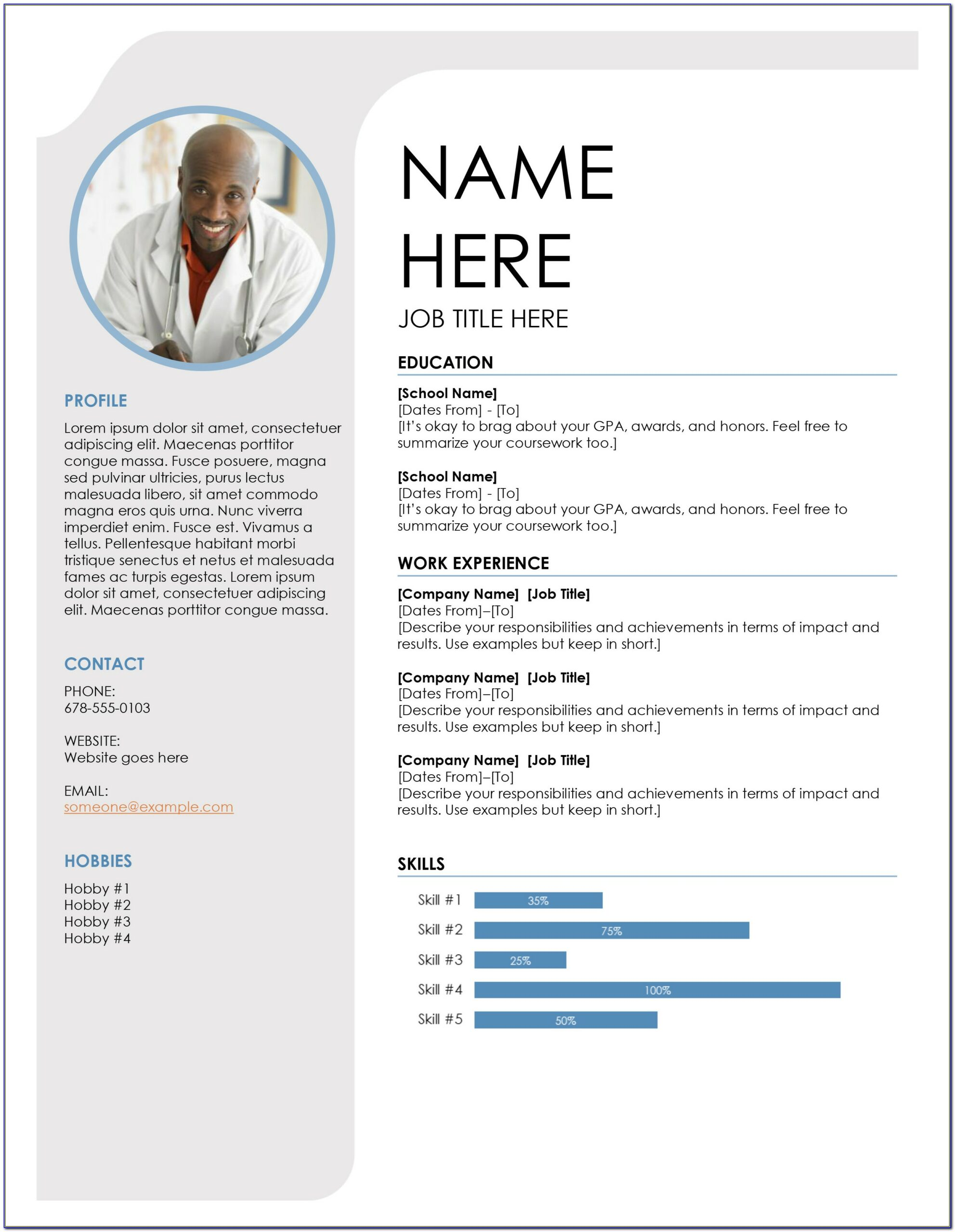 Free Resume Templates For Students With No Work Experience