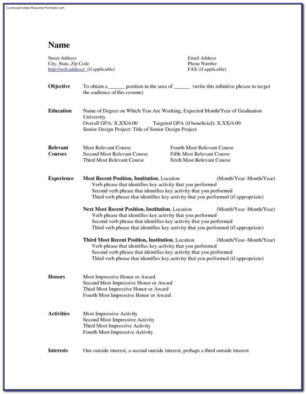 Free Resume Templates Indesign Cs5