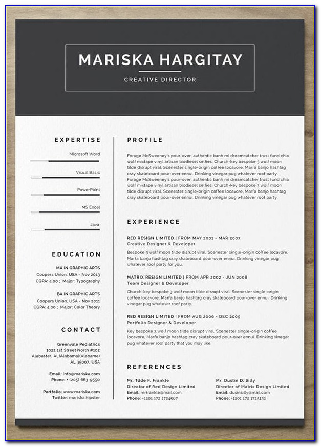 Free Resume Templates Microsoft Wordpad
