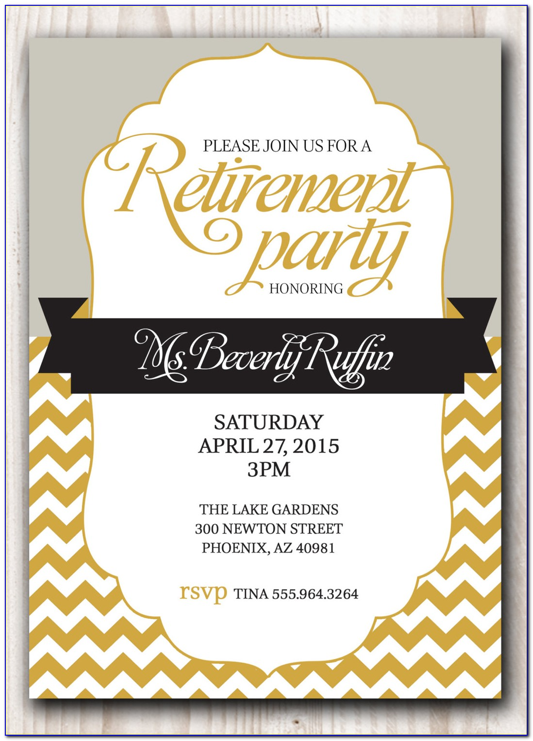 Free Retirement Dinner Invitation Template