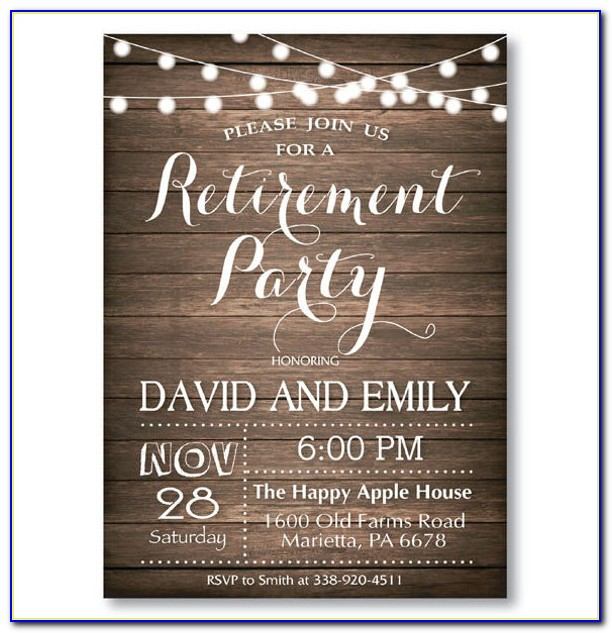 Free Retirement Dinner Invitation Templates