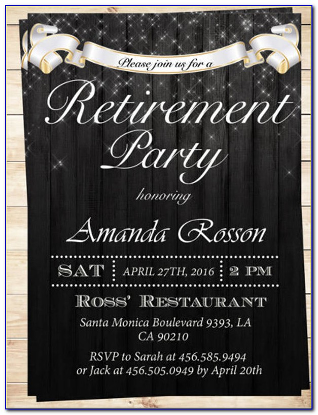 Free Retirement Flyer Ideas