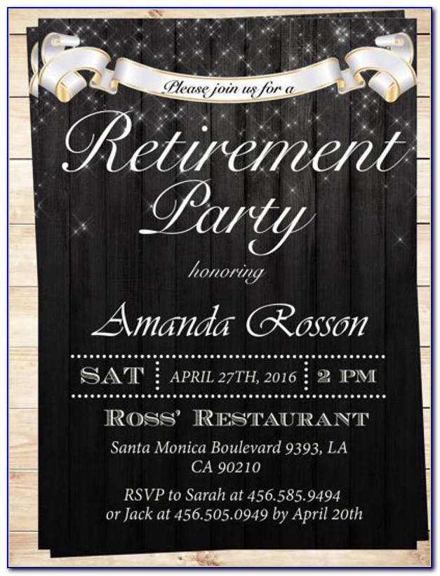 Free Retirement Flyer Ideas
