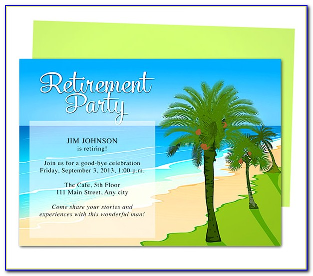 Free Retirement Invitation Templates Printable