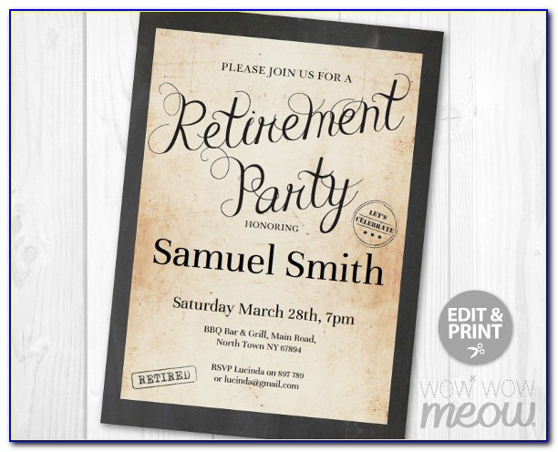 Free Retirement Party Flyer Template