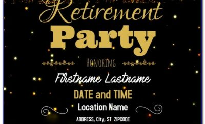 Free Retirement Party Flyer Templates For Word