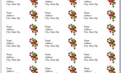 Free Return Address Label Templates Christmas