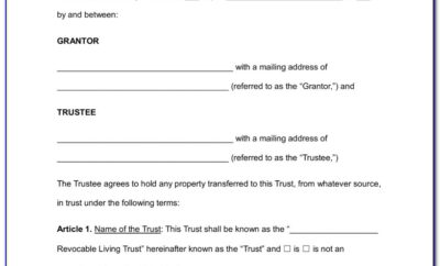 Free Revocable Living Trust Document