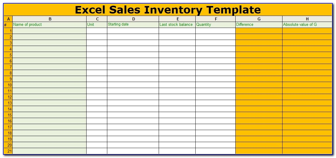 Free Sales And Inventory Management Spreadsheet Template
