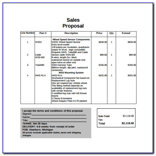 Free Sales Proposal Templates For Word