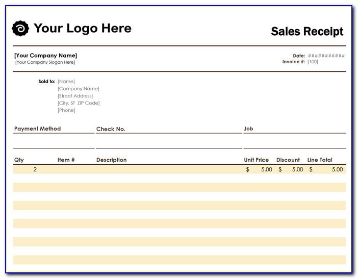 Free Sales Receipt Formfree Sales Receipt Form