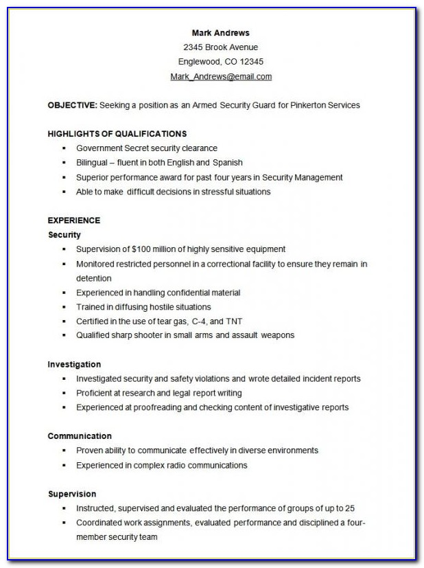 Free Sample Functional Resume Templates