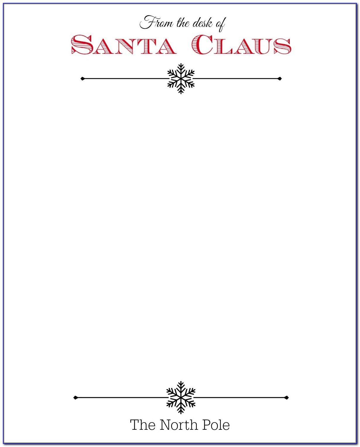 Free Santa Letterhead Templates Download