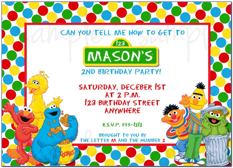 Free Sesame Street Photo Invitation Templates
