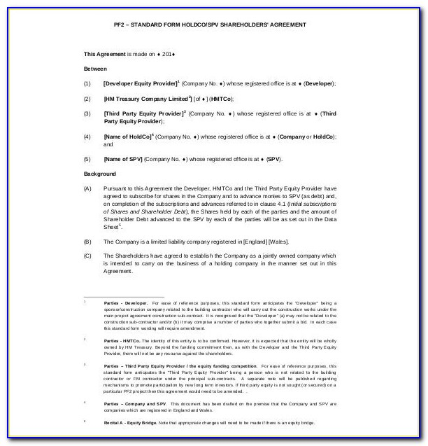 Free Shareholder Agreement Template Nz