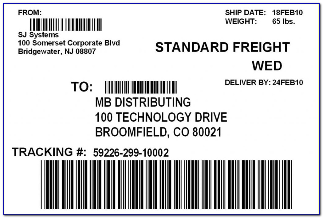 Free Shipping Label Format