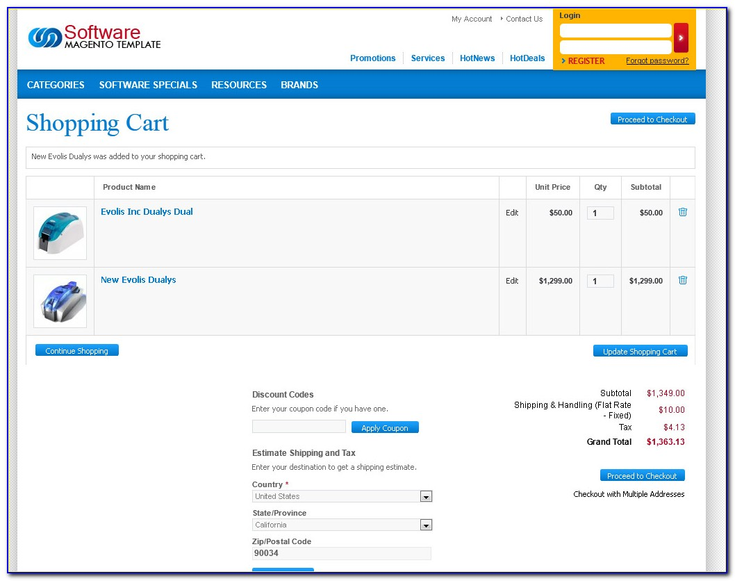 Free Shopping Cart Templates In Aspnet
