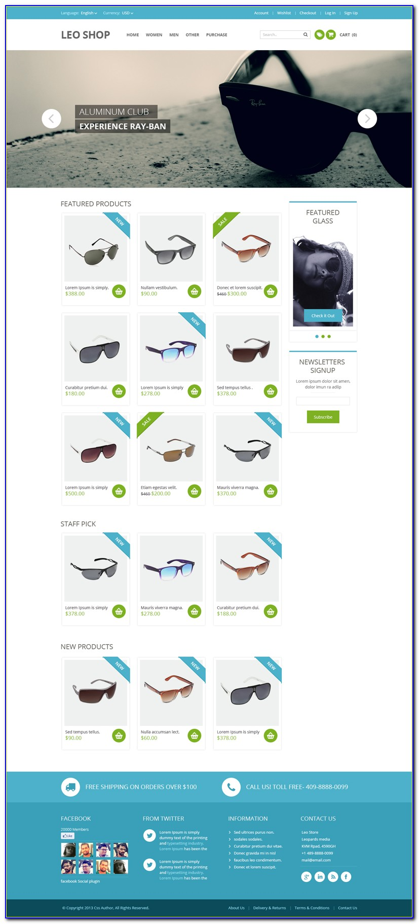 Free Shopping Cart Website Templates Download