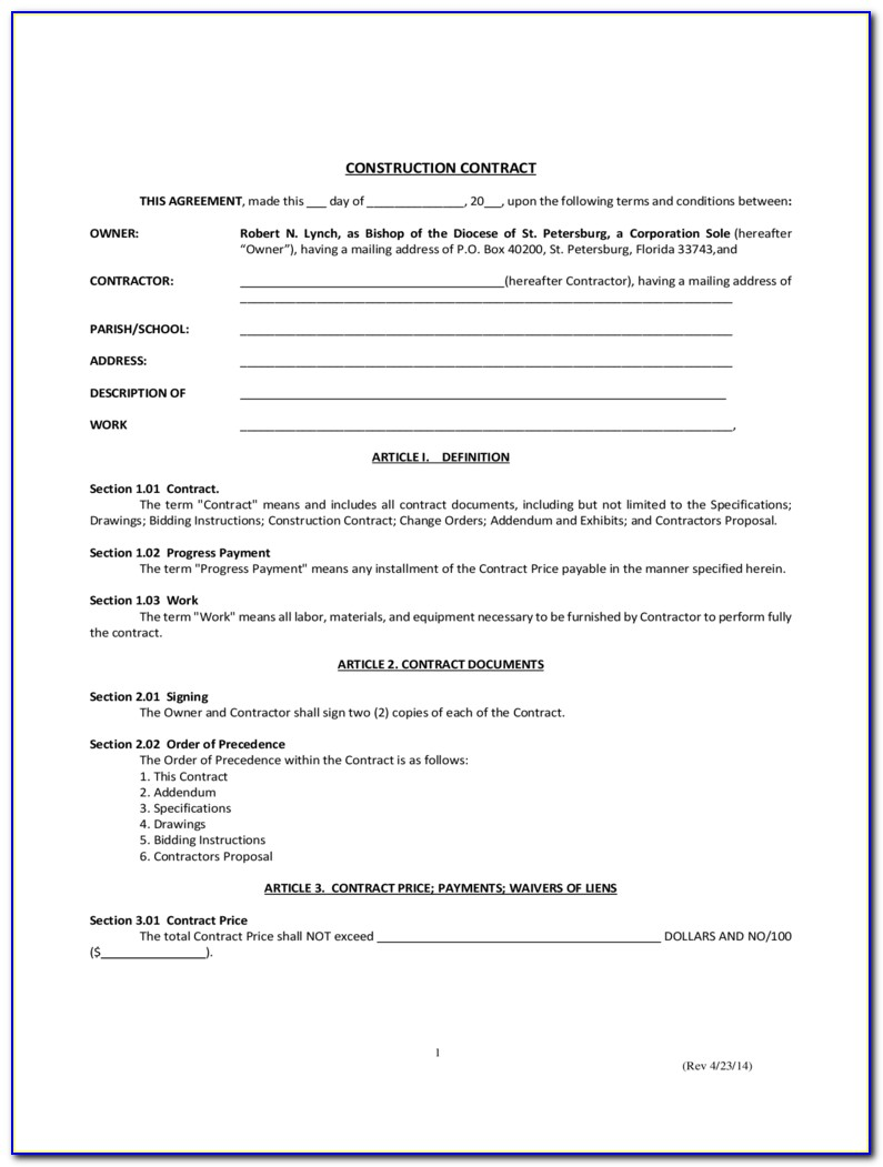 Free Simple Business Contract Template
