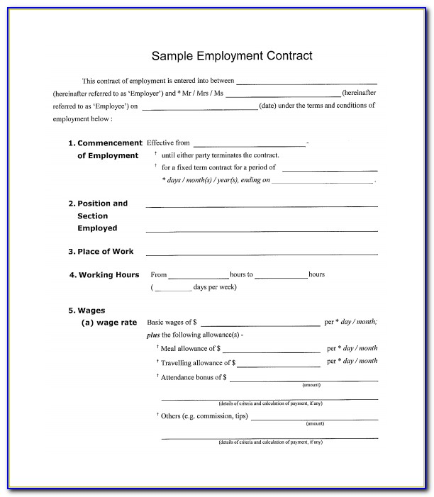 Free Simple Contract Templates