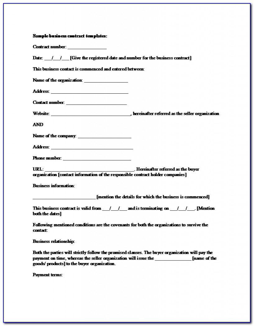Free Simple Employment Contract Template