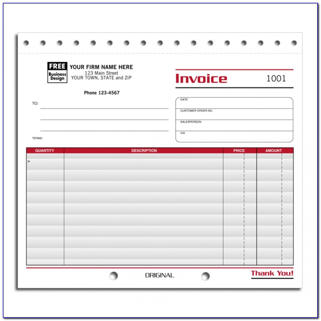 Free Small Business Invoice Template