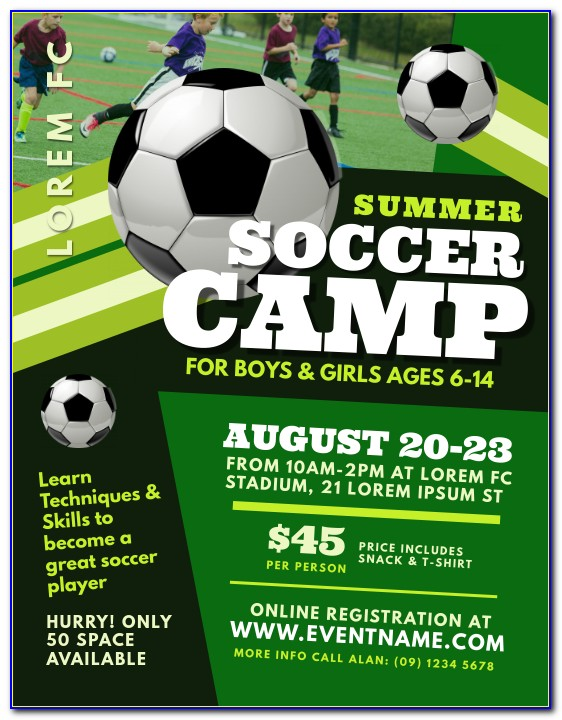 Free Soccer Camp Flyer Template