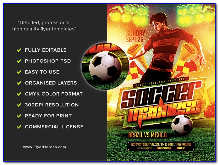 Free Soccer Flyer Template Psd