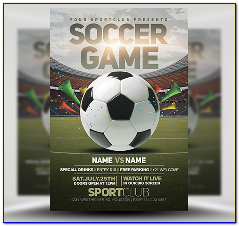 Free Soccer Flyer Templates Photoshop