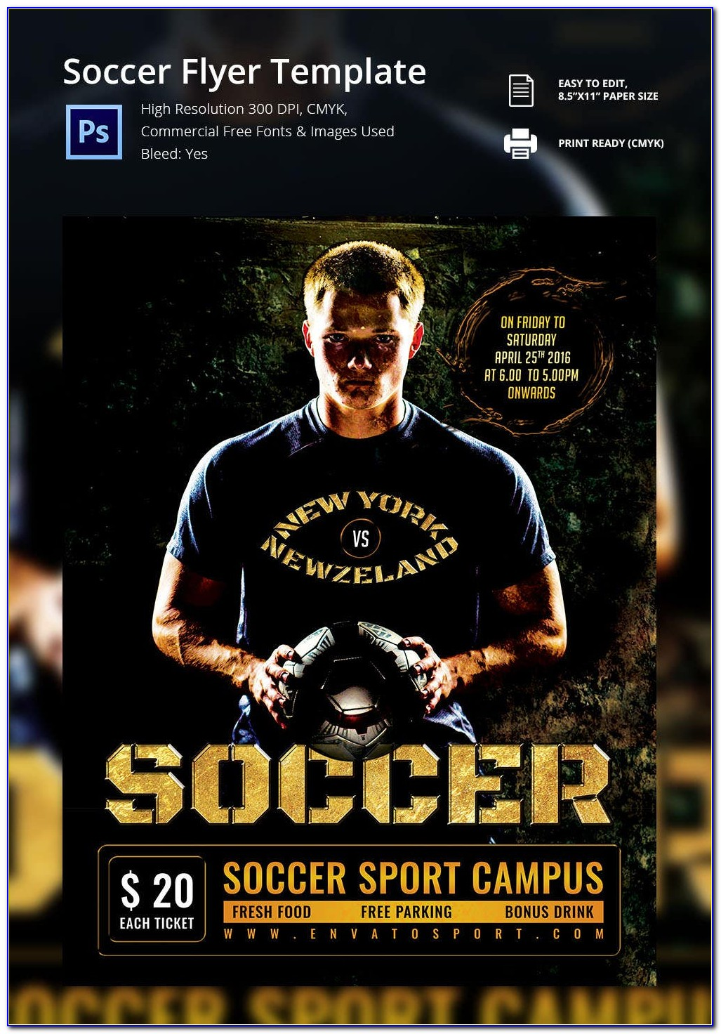 Free Soccer Tournament Flyer Template