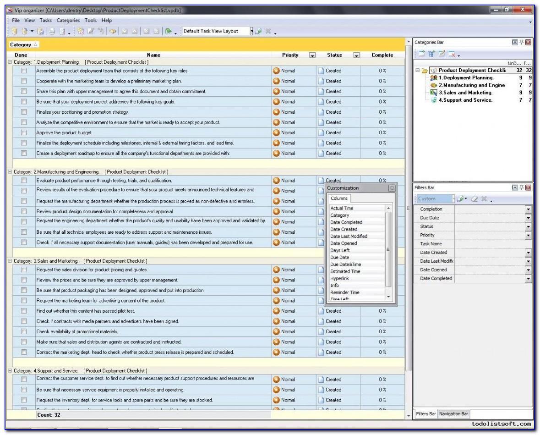 Free Software Deployment Checklist Template