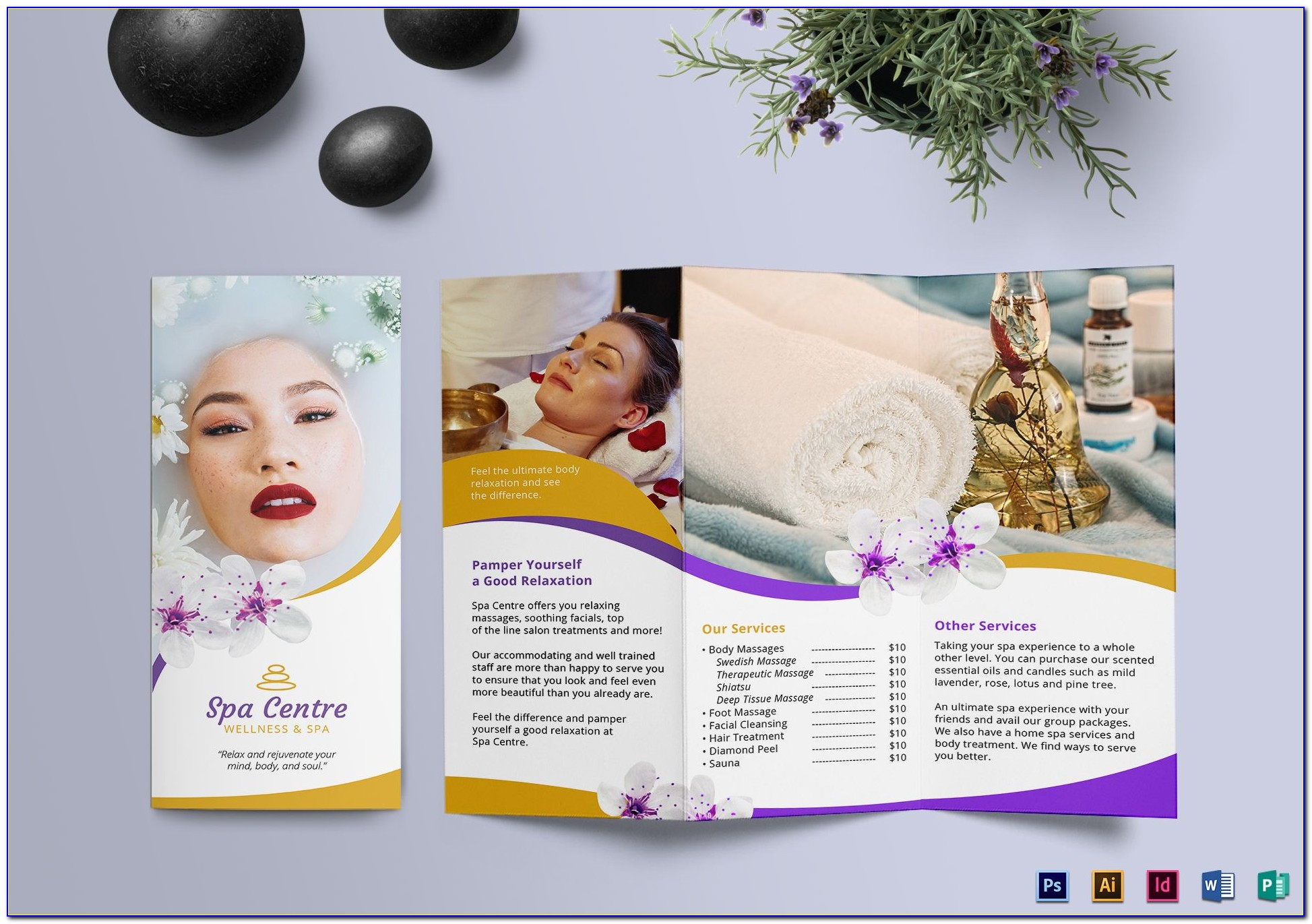 Free Spa Service Menu Template