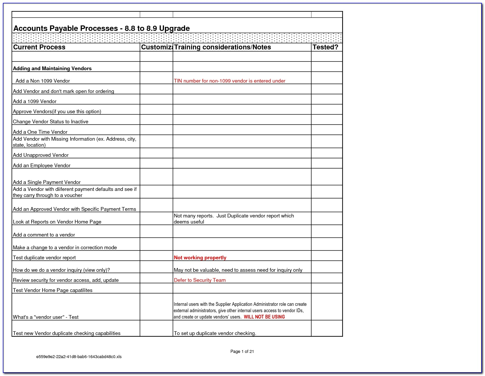 Free Supplier Reconciliation Template