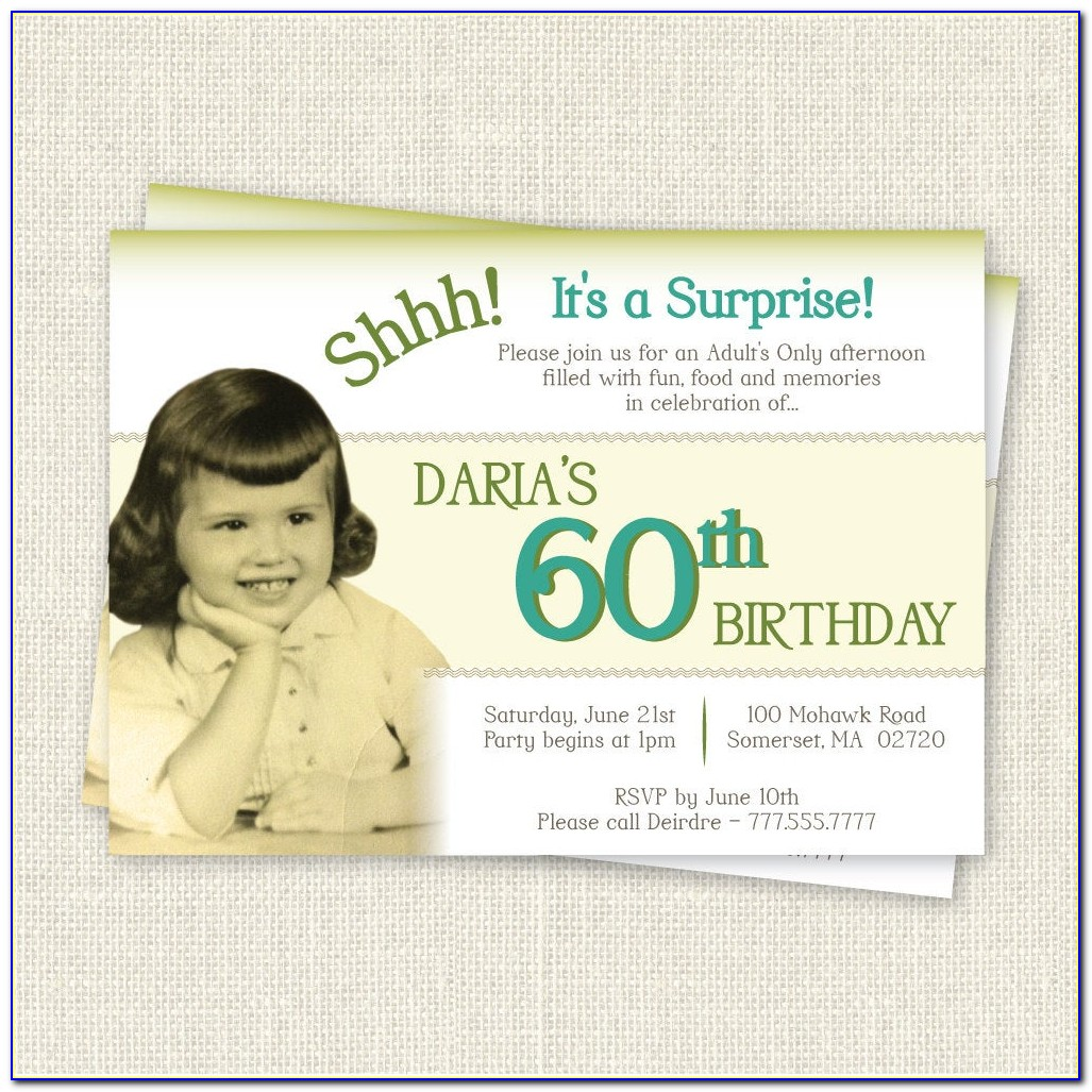 Free Surprise 60 Th Birthday Invitation Templates