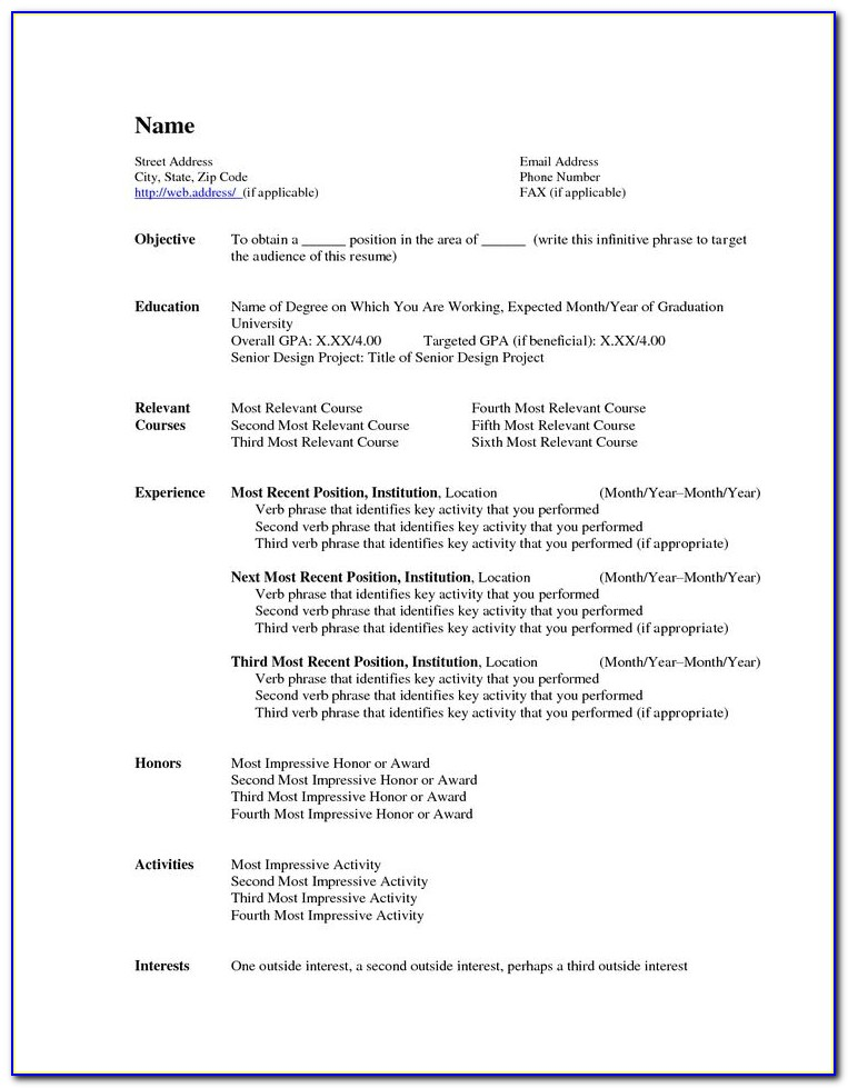 Free Teacher Resume Examples