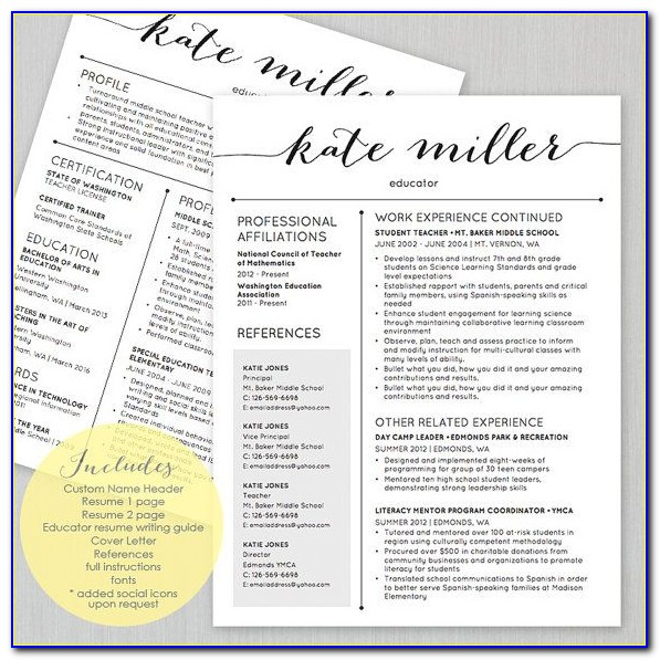 Free Teacher Resume Templates For Google Docs