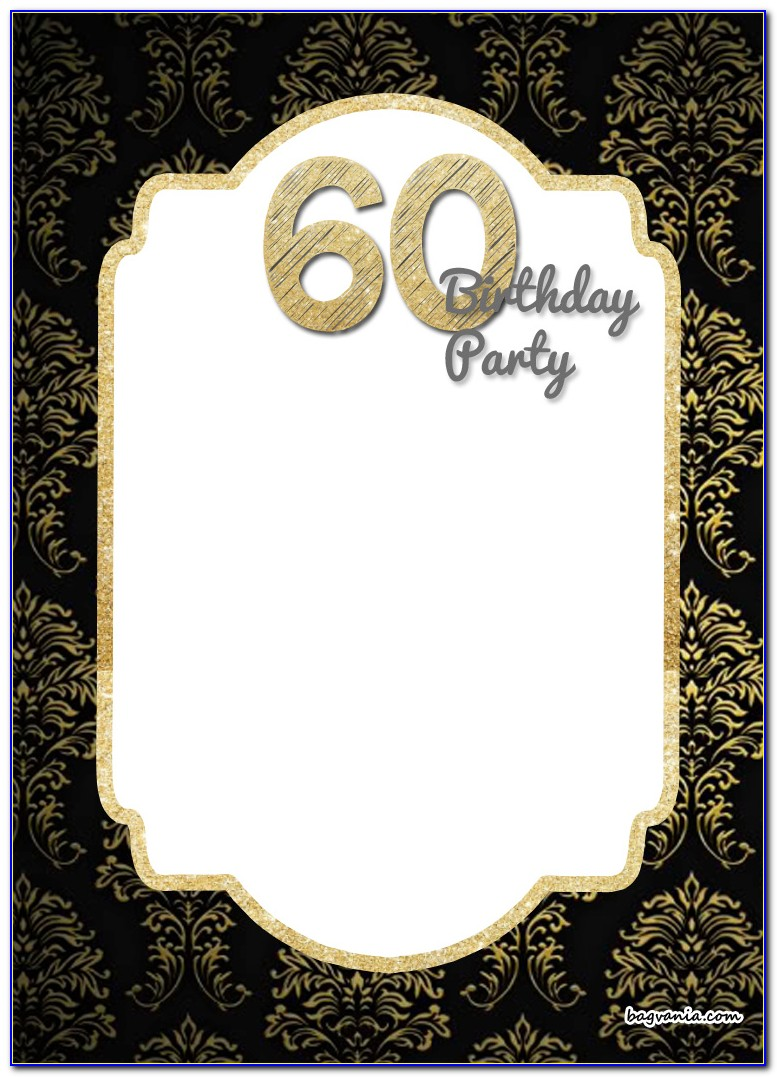 Free Template 60 Th Birthday Invitations