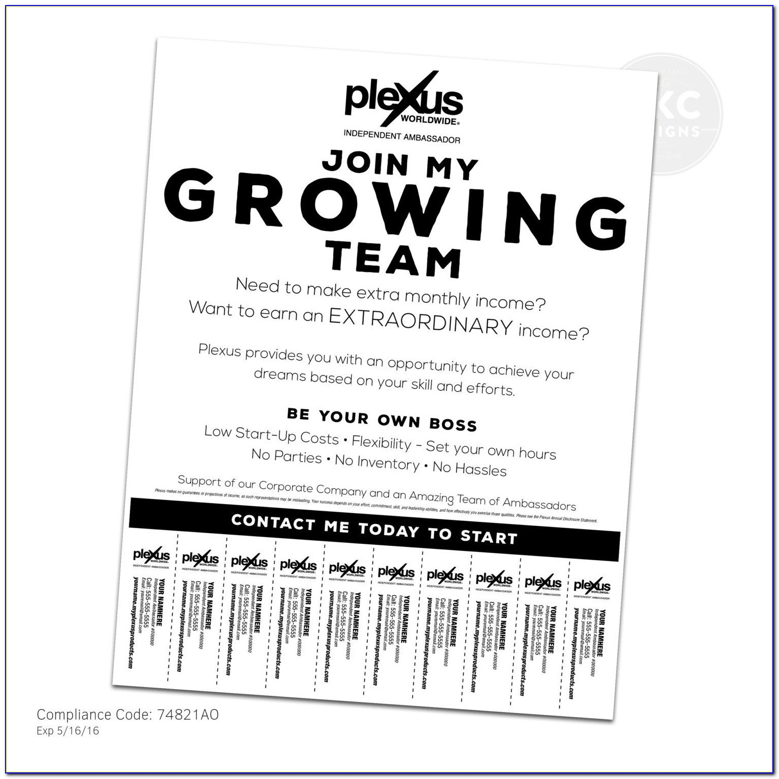 Free Template For Flyer With Tear Off Strips