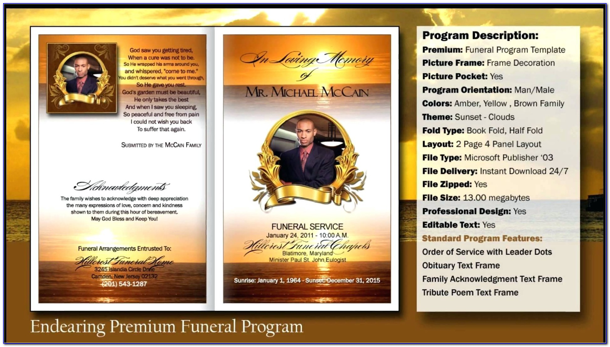 Free Template For Funeral Service Program