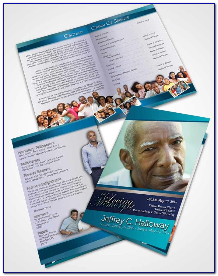 Free Template Funeral Program Booklet