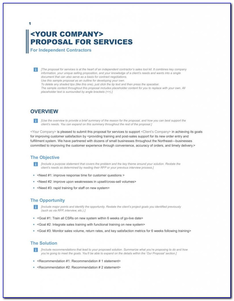 Free Templates For Business Proposal